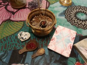 Salt på hela köksgolvet – Samhainkort